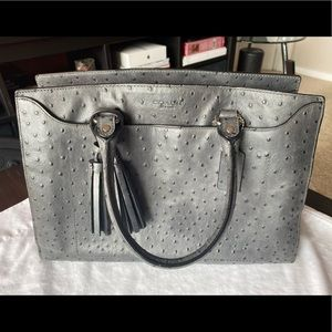 Coach Legacy Pinnacle Gray Ostrich Leather ToteBag